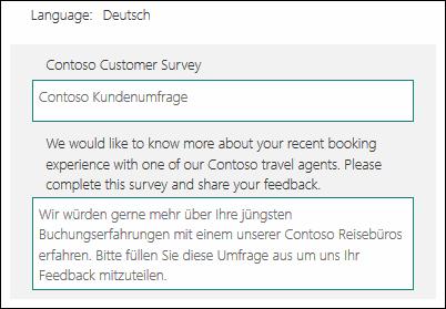 Traduction de contenu dans une autre langue dans Microsoft Forms