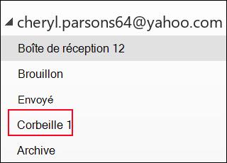 Si le dossier Corbeille est affiché, vous utilisez un compte IMAP.