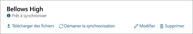 Capture d'écran des options de profil complétées sur le tableau de bord de School Data Sync, notamment l'option de démarrage de la synchronisation