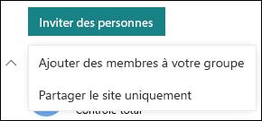 Inviter des personnes à utiliser votre site SharePoint