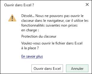 Boîte de dialogue lorsque vous ouvrez un classeur protégé par mot de passe dans Excel Web App