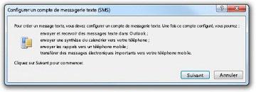 Configurer un compte de messagerie texte