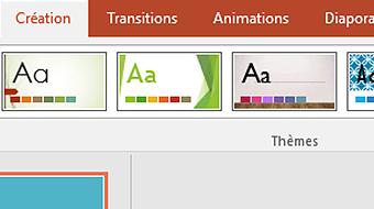 Commencer la formation Modifier l'apparence de PowerPoint 2016