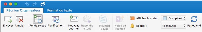 Ruban Réunion - Réunion Skype désactivée