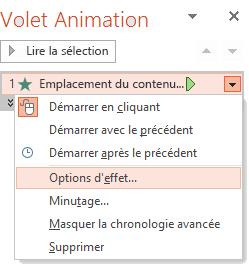 L'option « Animer par la lettre »