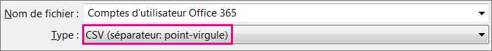 Image expliquant comment enregistrer un fichier au format CSV dans Excel