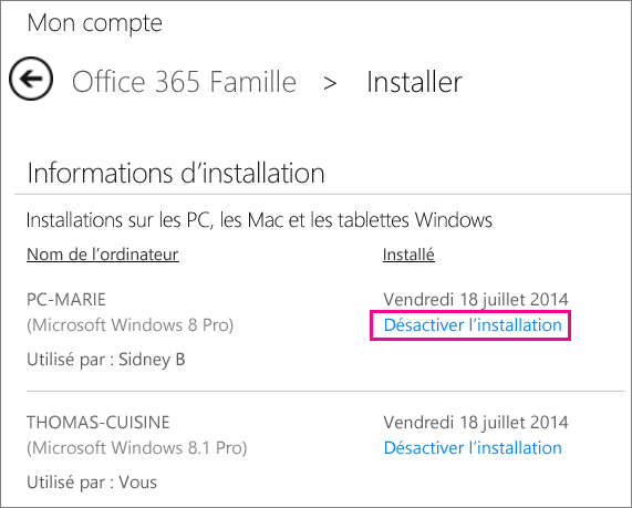 Comment installer office 365 sur un autre pc la r ponse - Windows office gratuit pour windows 8 ...