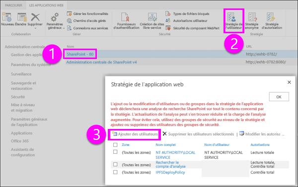 Stratégie de boîte de dialogue Application Web