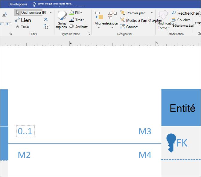 Cliquez sur le premier champ multiplicité, puis tapez la valeur.