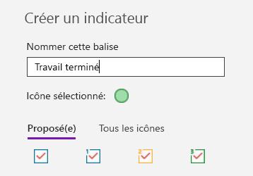 Création de balise personnalisée dans OneNote pour Windows 10