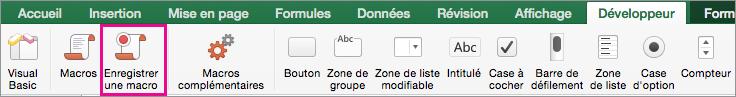 Excel pour Mac - Enregistrer la macro