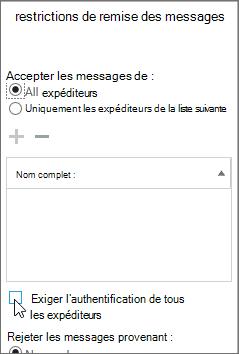 Résoudre le code d'état DSN5.7.134 en 5étapes pour définir des restrictions de remise des messages