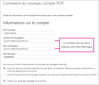 connecter des comptes de messagerie dans outlook sur le web office 365 support office. Black Bedroom Furniture Sets. Home Design Ideas