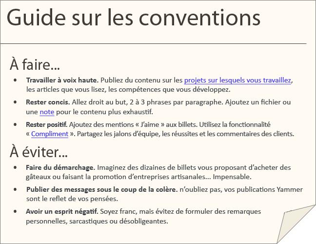 Exemples de conventions