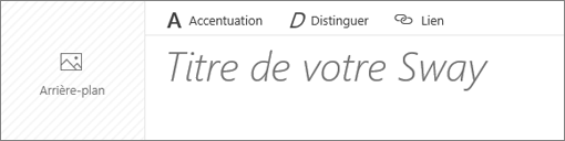 Capture d'écran de la zone de texte Titre de votre Sway.