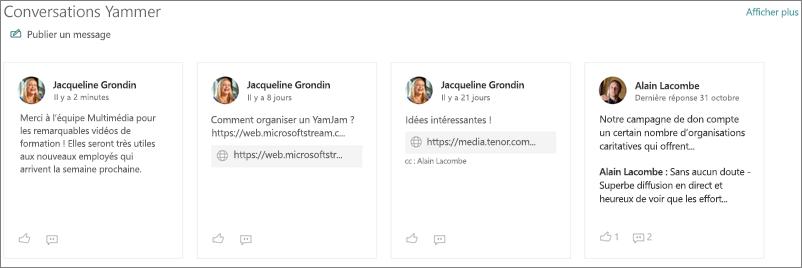 Composant WebPart Conversations