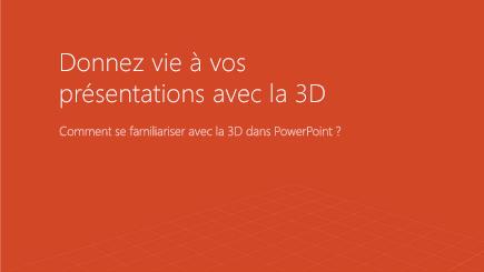 Capture d'une page de modèle 3D PowerPoint
