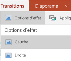 Options d'effet