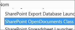 Activer le contrôle ActiveX SharePoint OpenDocuments Class