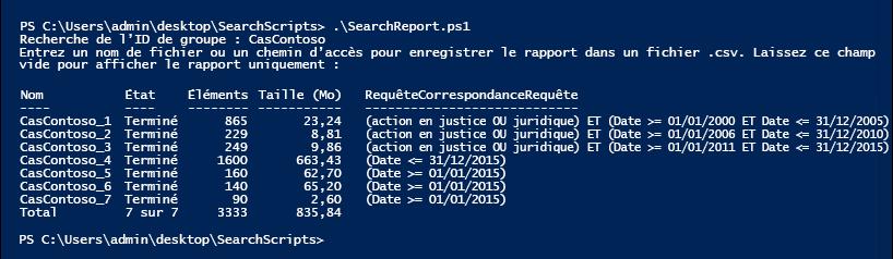 Exécuter le rapport de recherche pour afficher les estimations pour le groupe de recherche
