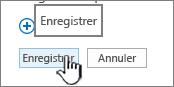 Enregistrer les modifications de barre de lancement rapide