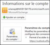 Ajoutez un nouveau compte de courrier dans Outlook2010
