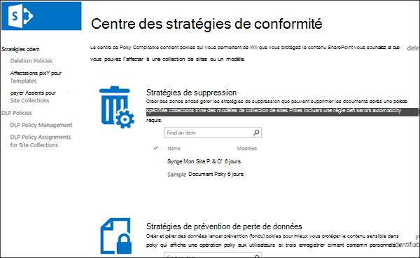 Centre de stratégie de conformité