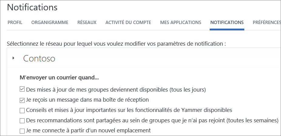 Définir des notifications