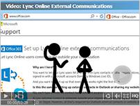 Miniature et lien vers la vidéo: Communications externes dans LyncOnline