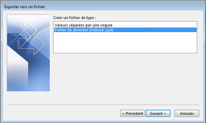 Exporter vers un fichier de données