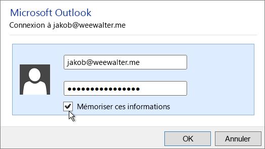 Collez votre mot de passe d'application dans les deux zones Mot de passe.