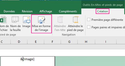Mise en forme de l'arrière-plan dans Excel