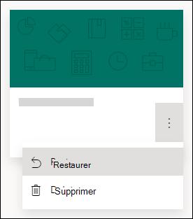 Restaurer un formulaire ou supprimer les options d'un formulaire dans Microsoft Forms
