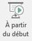 Ce bouton démarre un diaporama, en commençant à partir de la première diapositive de la présentation.
