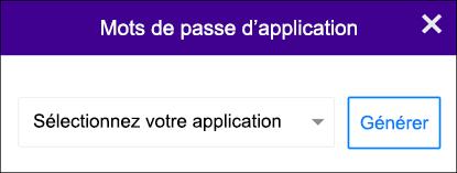 Choisissez votre application