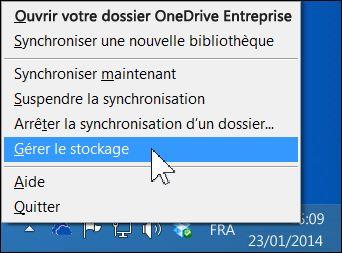Gérer votre espace de stockage OneDrive Entreprise
