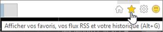 Bouton permettant d'accéder aux fluxRSS dans Internet Explorer