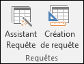 Deux options sont disponibles dans le groupe Requêtes du ruban Access: Assistant Requête et Création de requête