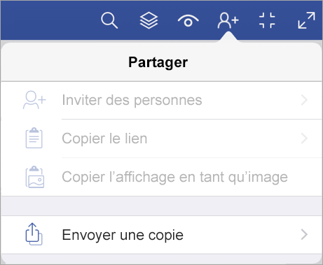 Envoyer une copie d'un fichier dans Visio Viewer pour iPad
