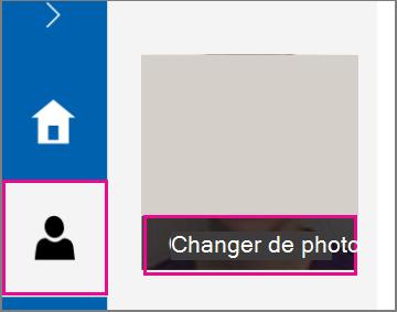 Cliquez sur l'icône d'informations personnelles.