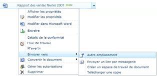 Envoi de documents sur un autre emplacement