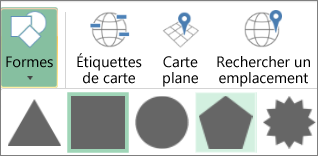 Options Formes dans Cartes 3D