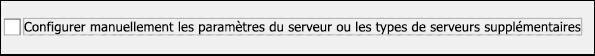 Choisissez Configuration manuelle pour votre courrier Gmail