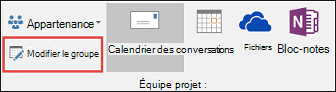 Modifier un groupe dans Outlook2016