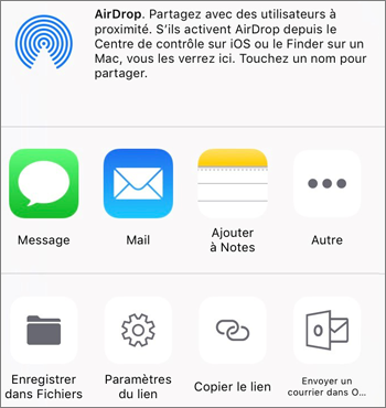 Capture d'écran du bouton Enregistrer une photo dans l'application OneDrive sur iOS