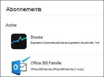 Image montrant Outlook a été utilisé pour acheter Office 365.