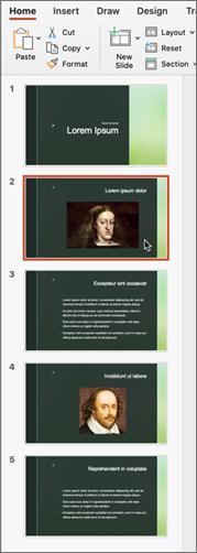 Volet diapositive