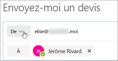 Cliquez sur le bouton pour répertorier les alias que vous pouvez répondre en tant que.