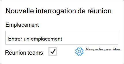 Vous pouvez voir votre fournisseur de réunion par défaut lors de l'ajout d'un sondage FindTime.