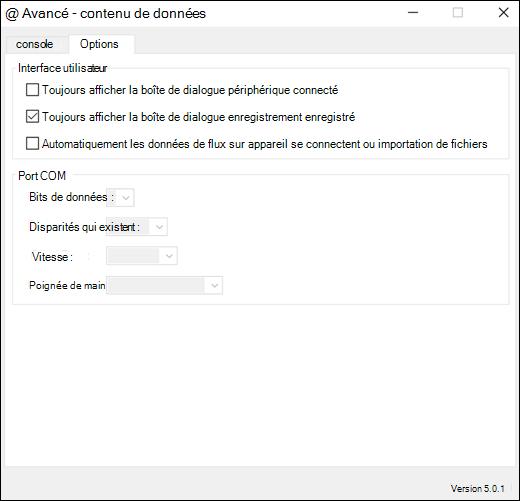 Onglet Paramètres avancés des paramètres du flux de données Excel